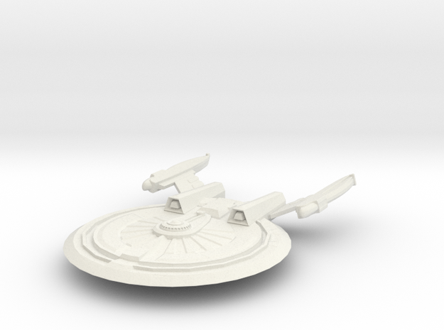 Harbinger Class HvyCruiser in White Strong & Flexible