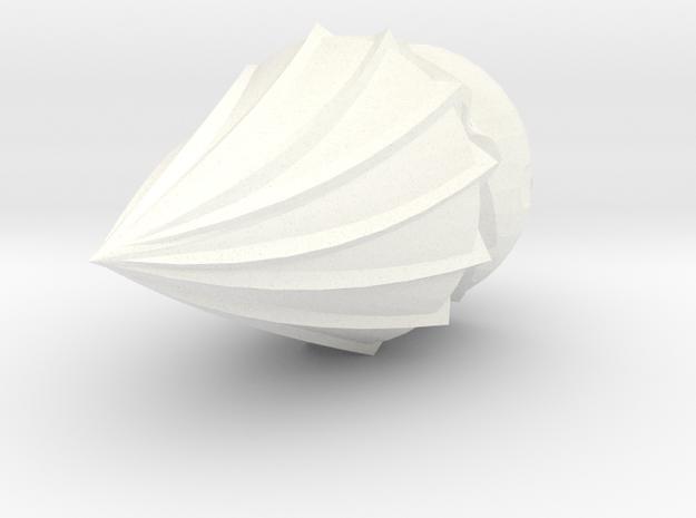 Hordakdrillattachment in White Processed Versatile Plastic