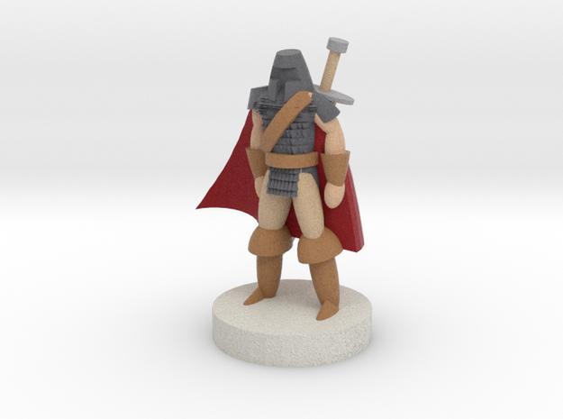 Warrior - Full Color in Full Color Sandstone