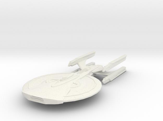 Archer Class Battleship in White Natural Versatile Plastic