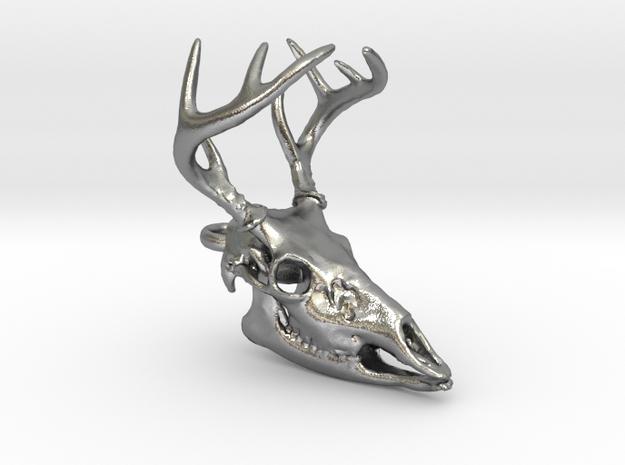 Buck Skull With Pendant Loop 3d printed