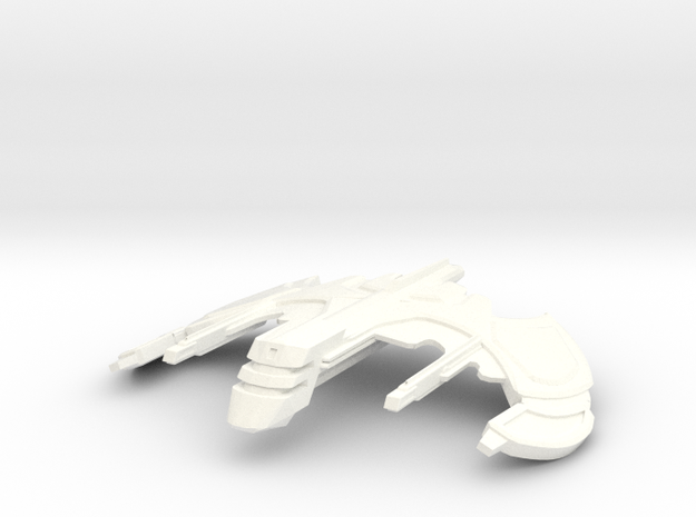 """Shrike"" Shuttle in White Strong & Flexible Polished"