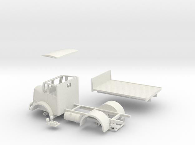 "1:43 Dennis c1946 Pax Cab & 9'6"" W.B  Chassis  in White Natural Versatile Plastic"
