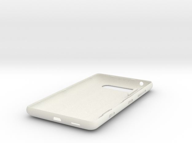 Nokia Lumia 820 shell with all parts in White Natural Versatile Plastic