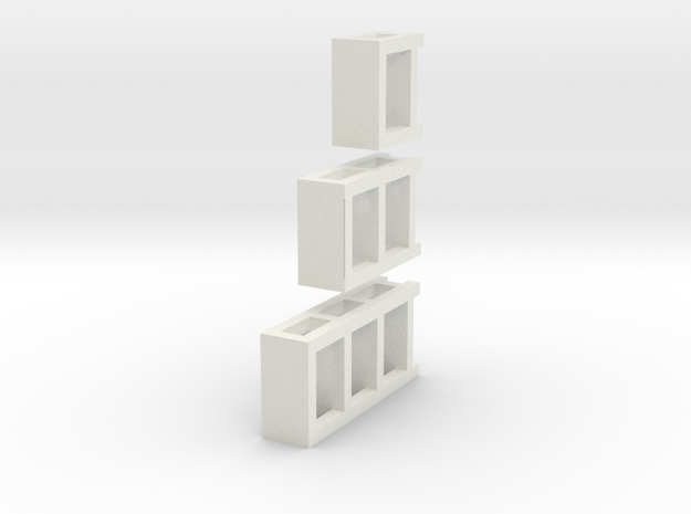 3 N Scale Garage Shelves (3 Sizes) 1 Each 3d printed
