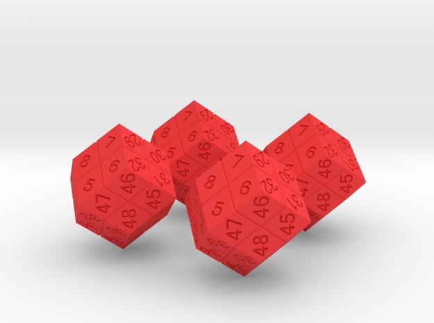 4 Player Start Order Die - 4 Pack 3d printed