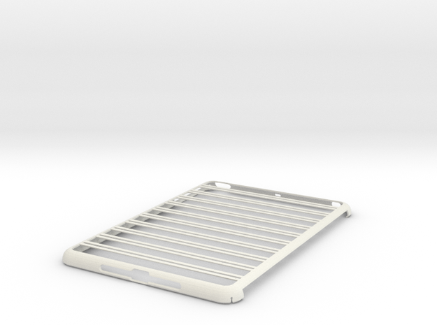 iPad Mini Abacus Case Customization Option in White Natural Versatile Plastic