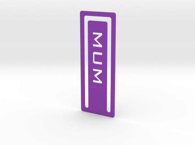 Bookmark Mum 3d printed