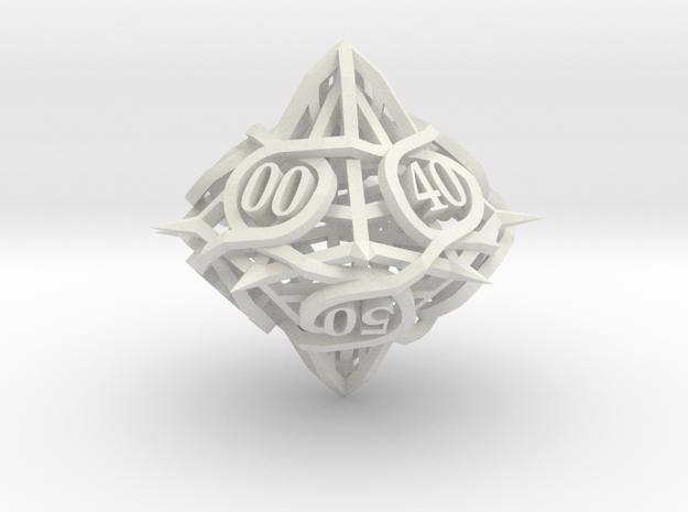 Thorn Die10 Decader Ornament in White Natural Versatile Plastic