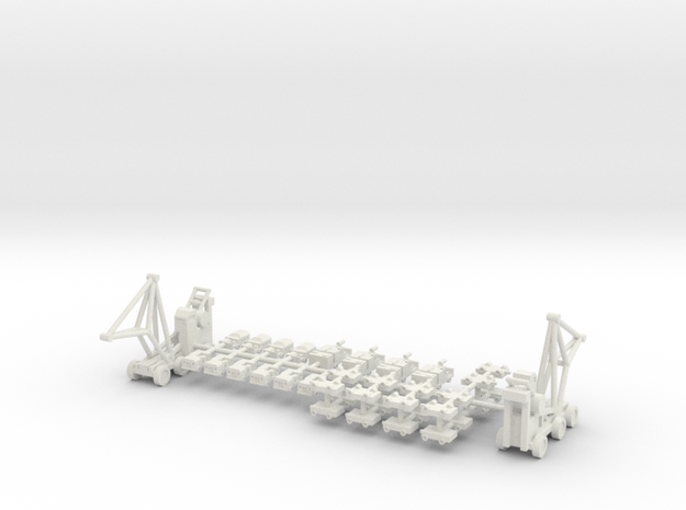 1/400 Aircraft Carrier Tractors in White Natural Versatile Plastic