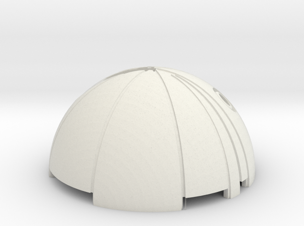 DetonatorTop in White Natural Versatile Plastic