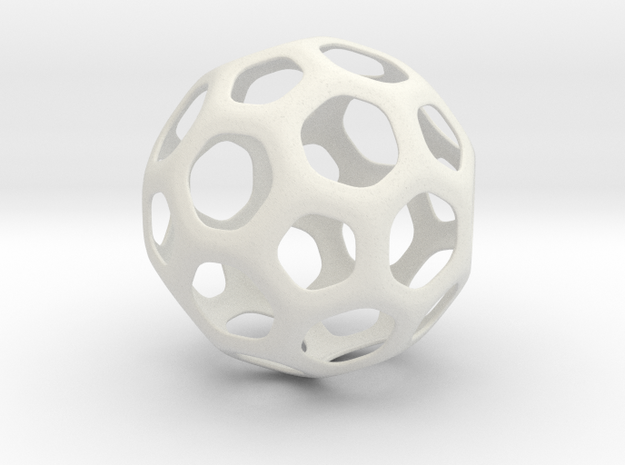 Hive Ball Small in White Natural Versatile Plastic