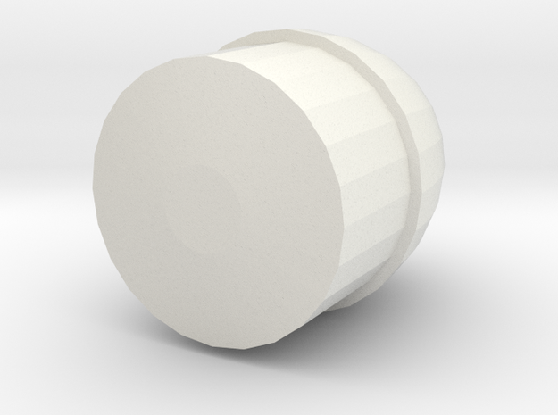 Barrel Back in White Natural Versatile Plastic