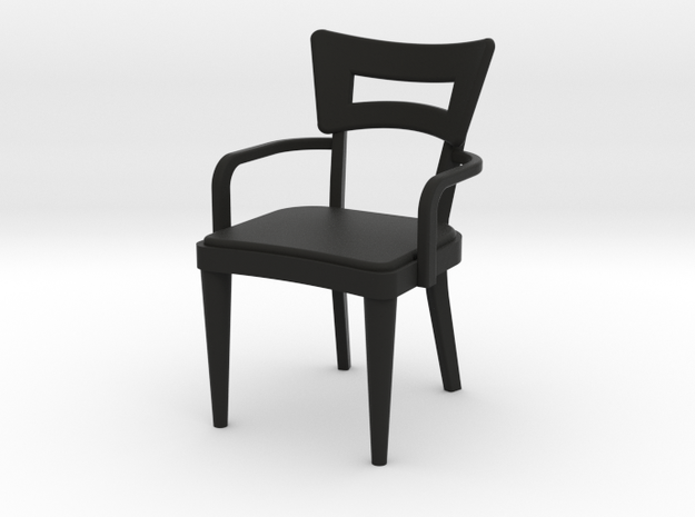 1:24 Dog Bone Chair with Arms 3d printed