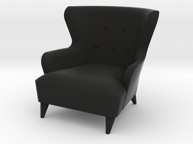 1:24 Moderne Wingback Barrel Chair