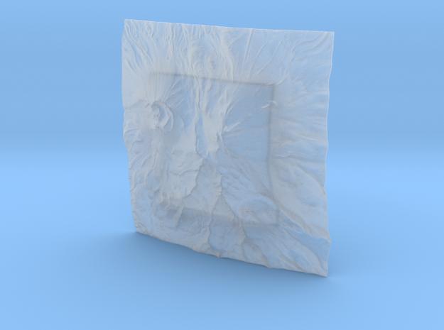 6'' Mt. Shasta Terrain Model, California, USA 3d printed