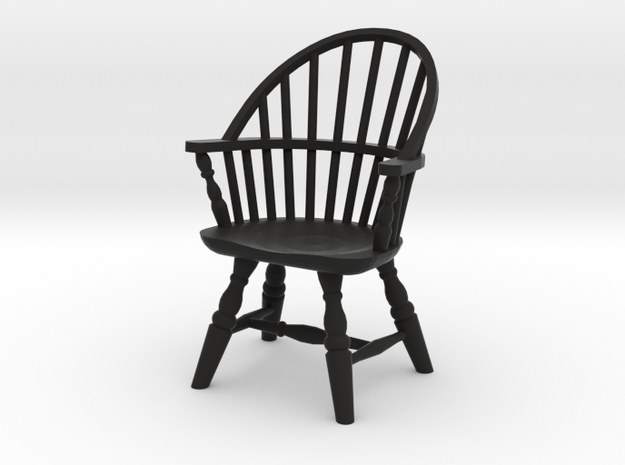 1:24 Sack Back Windsor Chair 3d printed