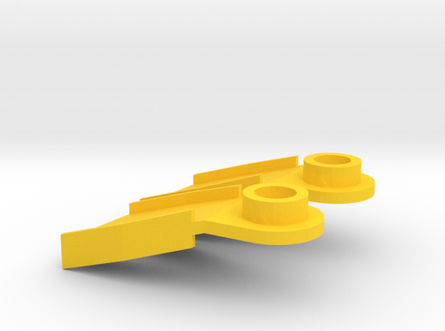 Minifig Splitfins with angled blade 3d printed