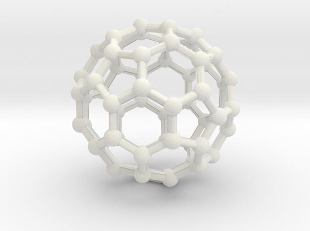 Buckyball Medium in White Natural Versatile Plastic