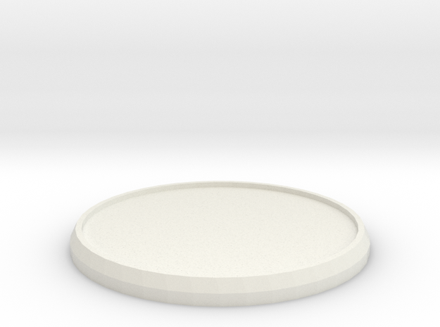 Round Model Base 40mm in White Natural Versatile Plastic