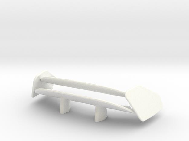 599 Racer Wing in White Processed Versatile Plastic
