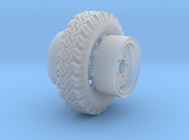 1/24 Australian Land Rover LRPV wheels in Smooth Fine Detail Plastic
