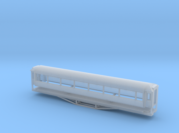 AO Carriage, New Zealand, (N Scale, 1:160) in Smooth Fine Detail Plastic