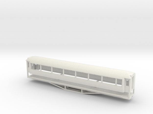 AO Carriage, New Zealand, (OO Scale, 1:76) in White Strong & Flexible