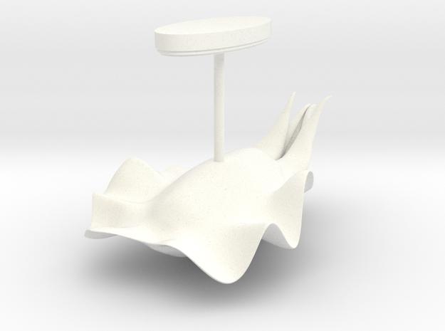 Cuttlefish 4.6cm w/base in White Processed Versatile Plastic