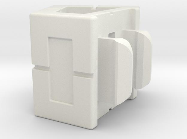 Rokenbok 60 Degree Block in White Natural Versatile Plastic
