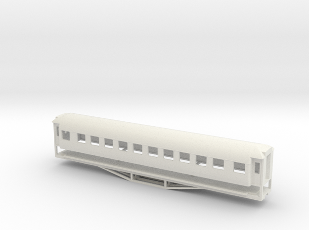 56ft 1st Class NI, New Zealand, (HO Scale, 1:87) in White Strong & Flexible