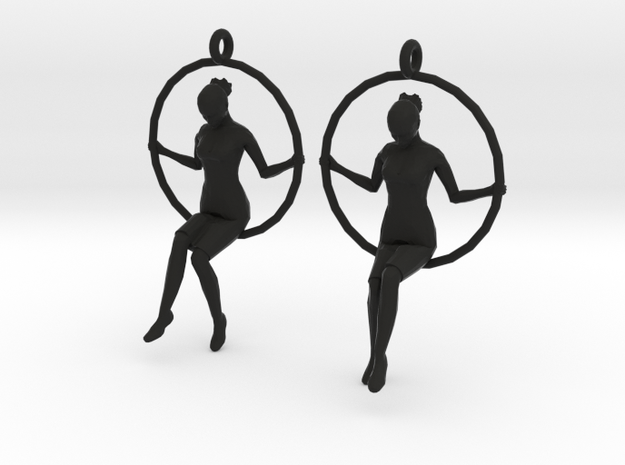"earrings ""Hoop girl 2"" 3d printed"