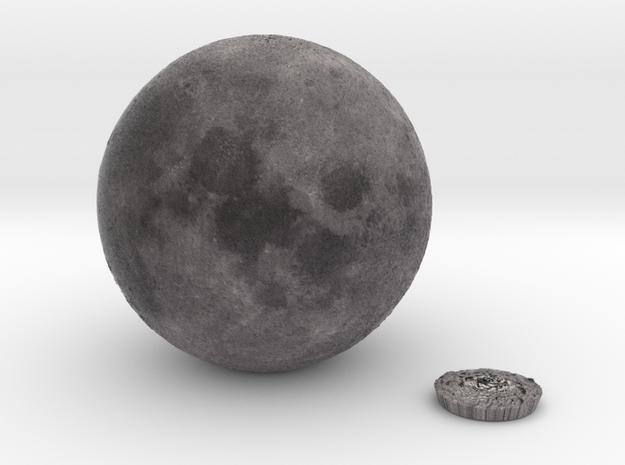 5cm Color Lunar Globe 3d printed