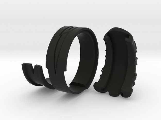 Vambrace Ring 8 in Black Natural Versatile Plastic