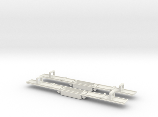 Baldwin DT6-6-2000 Dummy Chassis X2 N Scale 1:160 in White Natural Versatile Plastic