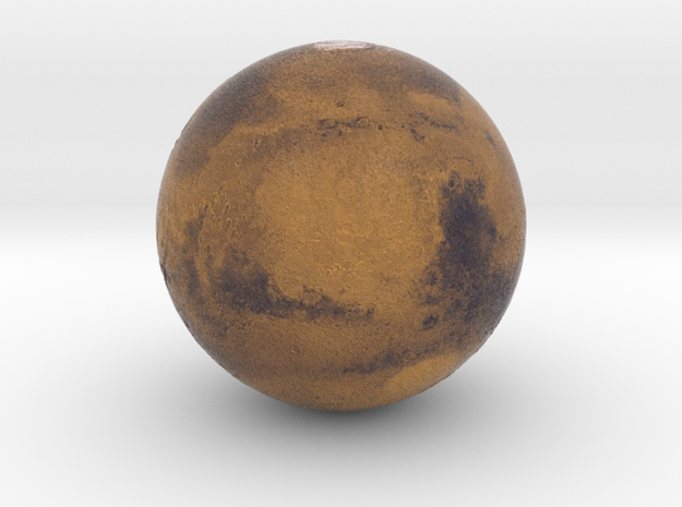 "1"" Mars Globe in Full Color Sandstone"