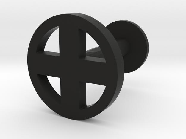 X Logo Cuff Link (one) 3d printed