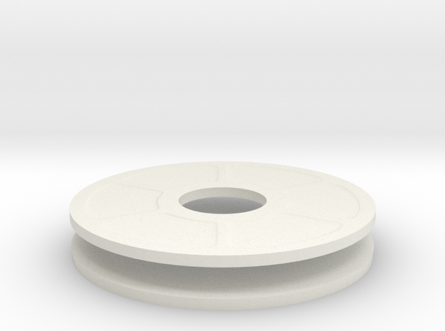New Half Inch Mag Dial in White Natural Versatile Plastic