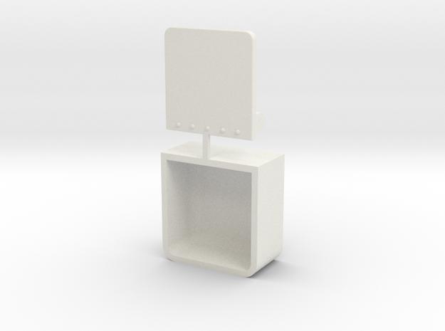 Step Ladder in White Natural Versatile Plastic