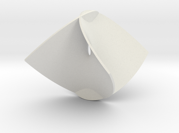 Enneper Minimal Surface in White Natural Versatile Plastic