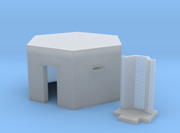 British WW2 Pillbox Type 22 1-148 Scale Brick 3d printed