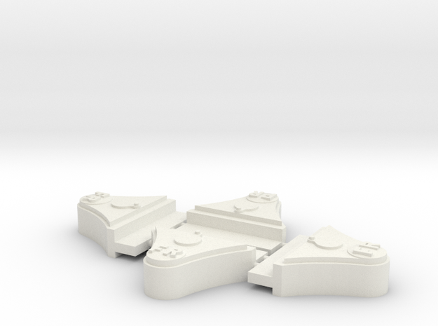 "FR 2 Ton 7/8"" scale axleboxes in White Natural Versatile Plastic"