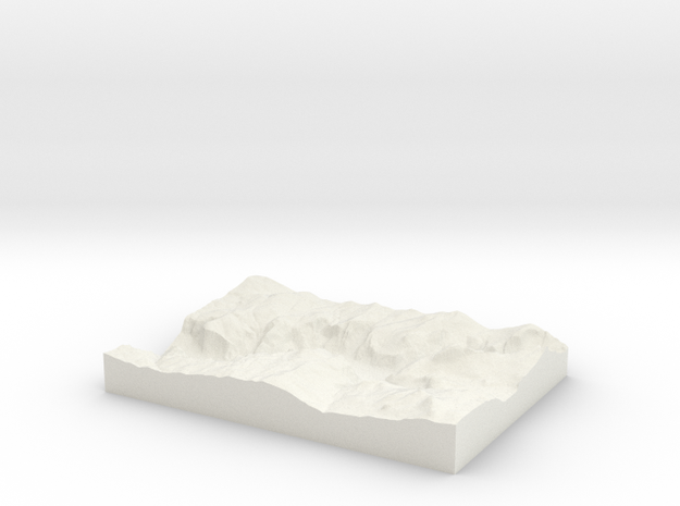 Model of Curry Village in White Natural Versatile Plastic