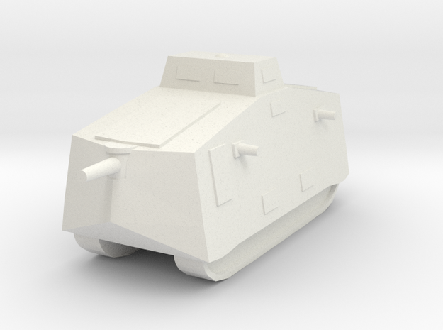 A7V 6mm scale in White Natural Versatile Plastic