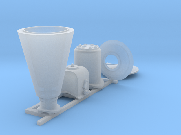 Orenstein & Koppel loco fittings in Smooth Fine Detail Plastic