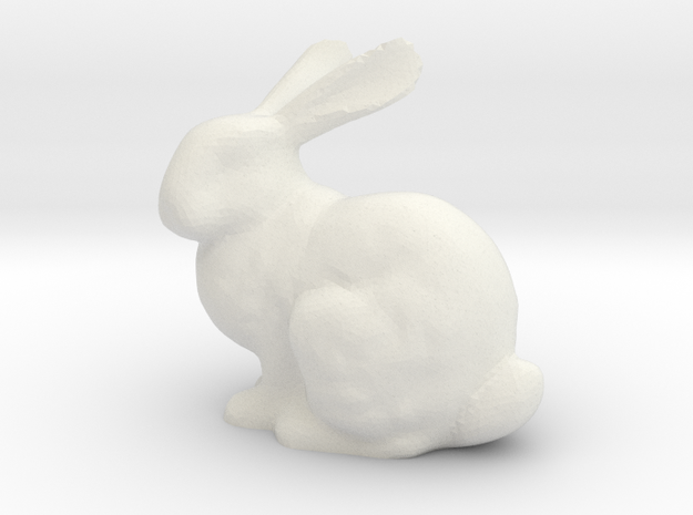 Bunnyr in White Natural Versatile Plastic