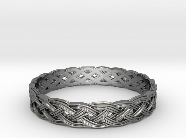 Hieno Delicate Celtic Knot Size 7.5 in Premium Silver