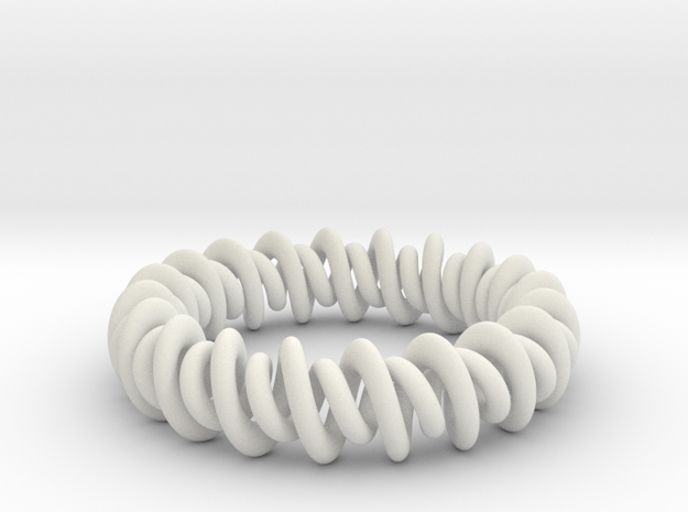 GW3Dfeatures Bracelet A in White Strong & Flexible