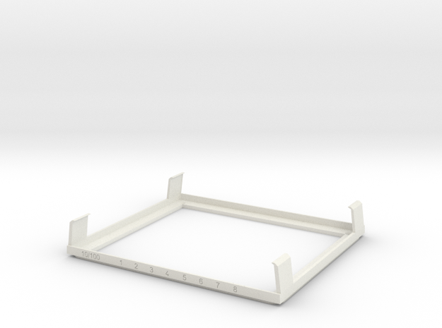 TS WM Injection Mold Prototype in White Natural Versatile Plastic
