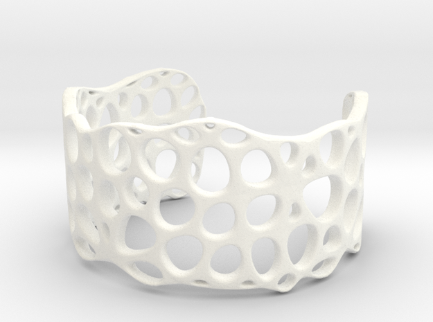 Cell Cuff (48mm Inner Radius) in White Processed Versatile Plastic
